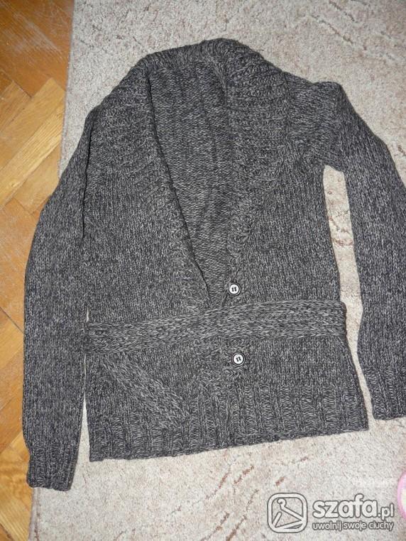 Swetry kardigam melanż szary 36 s