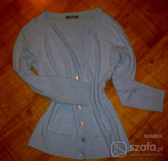 Swetry kardigan błękitny 38