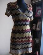 New Look sukienka tunika w zygzaki