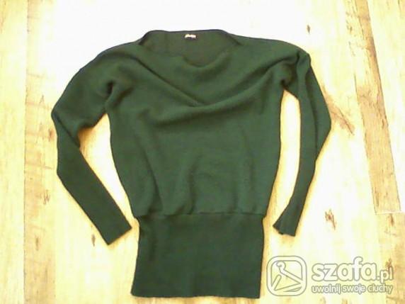 Swetry Zielony nietoperz tunika SETIN styl