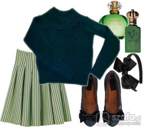 Swetry Butelkowa zieleń