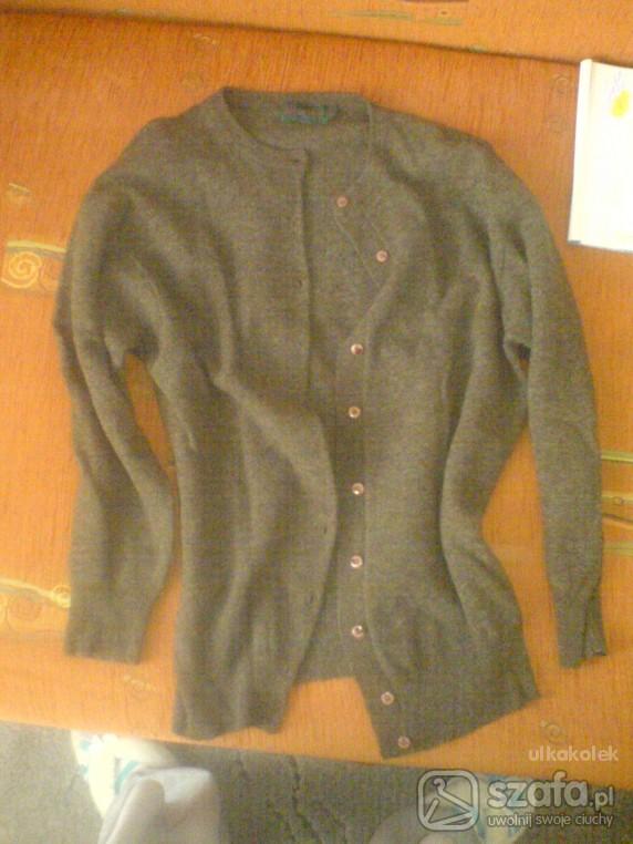 Swetry brazowy rozpinany