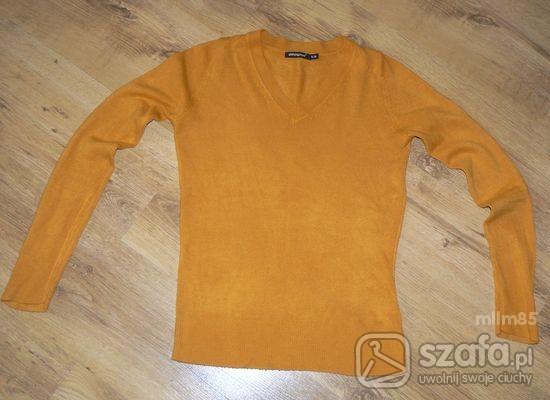 Swetry MUSZTARDOWY SWETEREK ATMOSPHERE