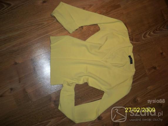 Swetry Sweterek żółciutki