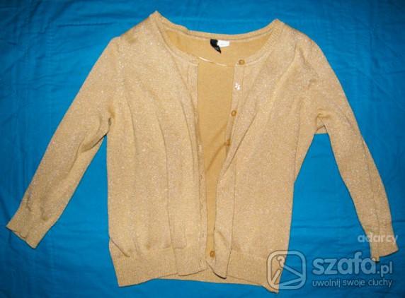 Swetry DIVIDED by HM złoty sweterek retro idealny