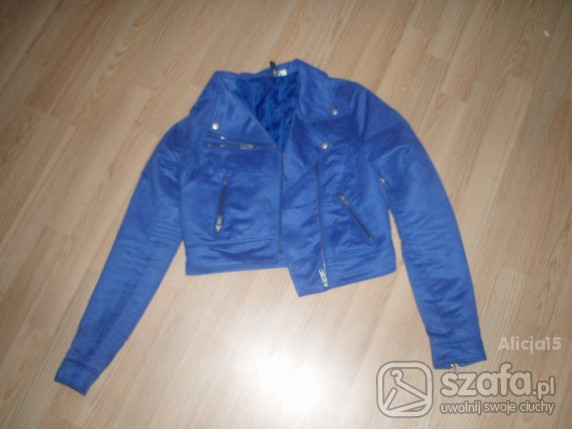 kurtka krótka niebieska