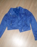 kurtka krótka niebieska...