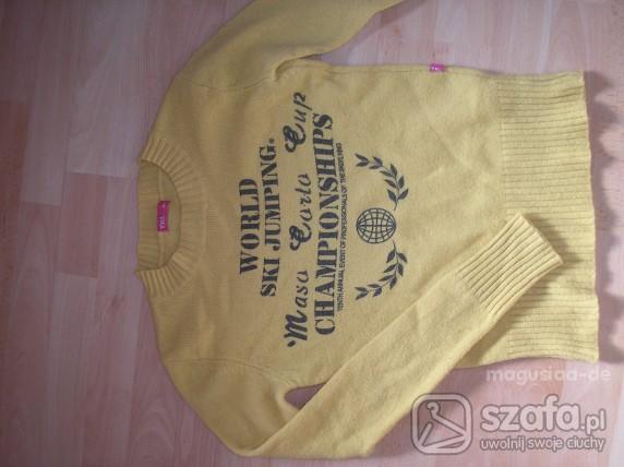 Swetry zółty swetr troll