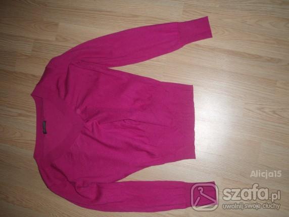 sweter różowy kardigan