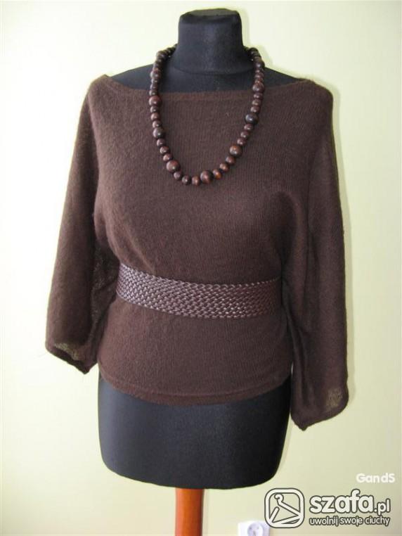 Swetry brązowy nietoperek r uniwersalny