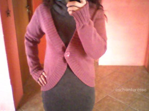 Swetry Fioletowy sweterek HiM
