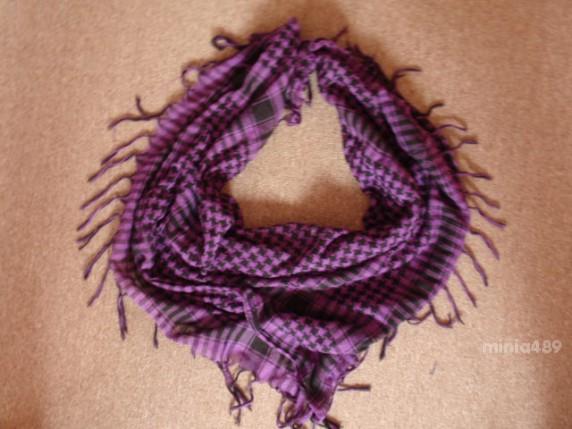 Chusty i apaszki fioletowa arafatka