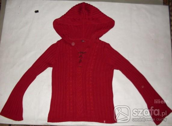 Swetry Czerwony z kapturem L