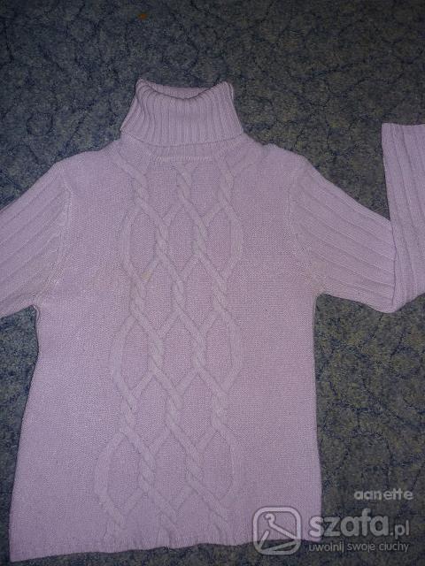 Swetry GIORGIO ARMANI liliowy golfik