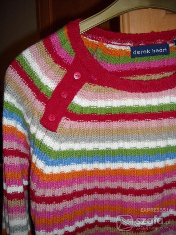 Swetry kolorowy wygodny i mięciutki sweterek