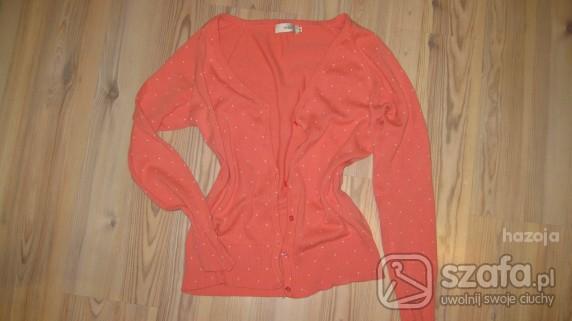 Swetry sweterek różowo morelowy