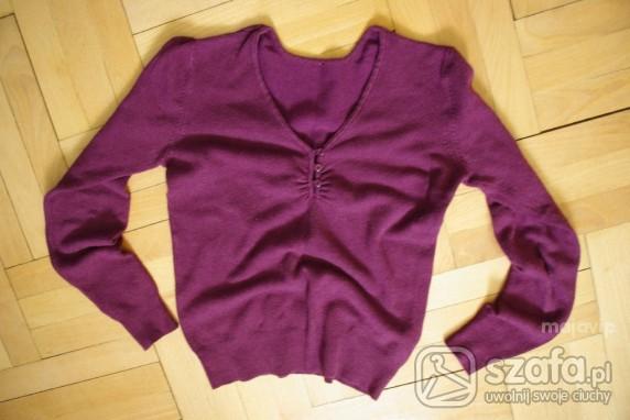Swetry sweterek S fioletowy