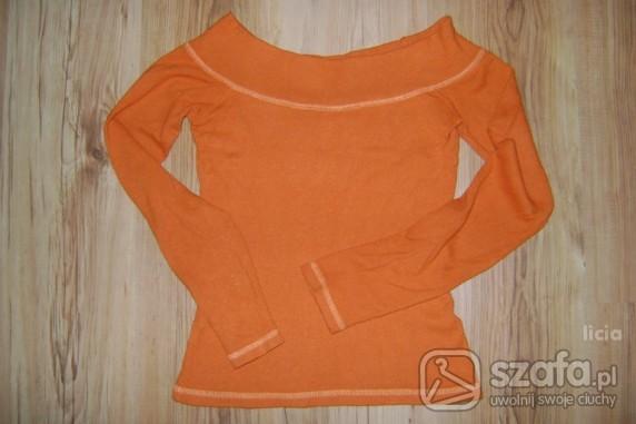 Swetry Pomarańczowy sweterek Zara