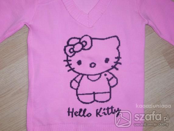 Swetry Sweter Hello Kitty różowy