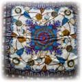 Jedwana apaszka z pięknym motywem zegarków
