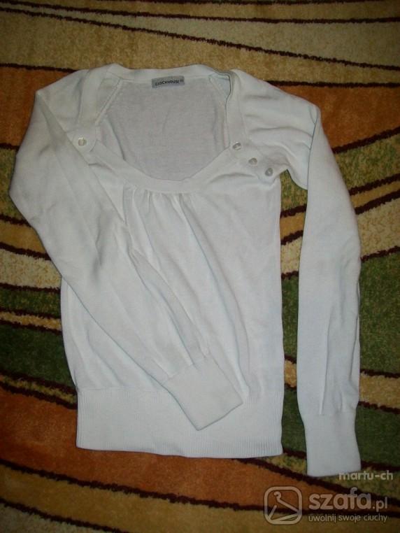 Swetry biały sweterek