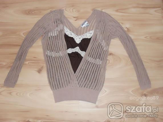 Swetry Super Cienki JEDYNY MODNY Sweterek BLUZKA L 40