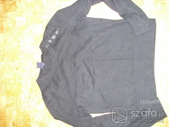 Swetry Śliczny sweterek GAP granatowy z guziczkami xs