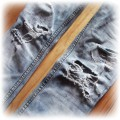 DIY ripped acid wash jeans