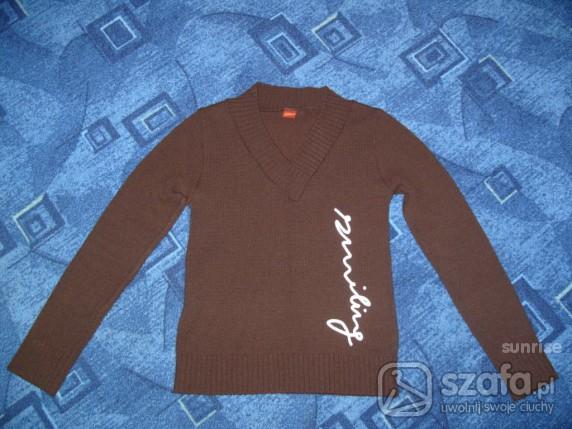 Swetry Sweterek brązowy S