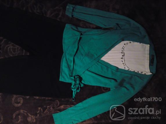 Swetry ZARA wiązany morski sweterek