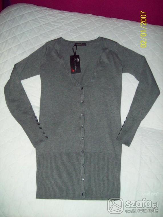 Swetry KARDIGAN szary NOWY 40 42 cena z wysyłką