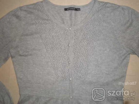 Swetry Szary z azurkiem atmosphere M L sliczny