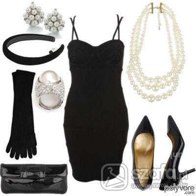 Eleganckie elegancki czarny zestaw