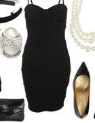 elegancki czarny zestaw...