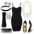 elegancki czarny zestaw