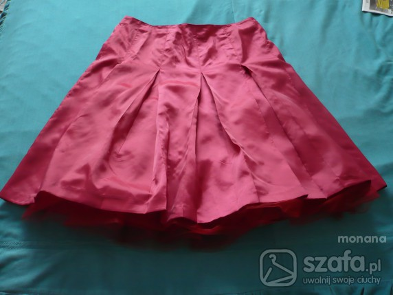 spódnica plisowana czerwona 42
