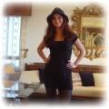 mala czarna plus kapelusz