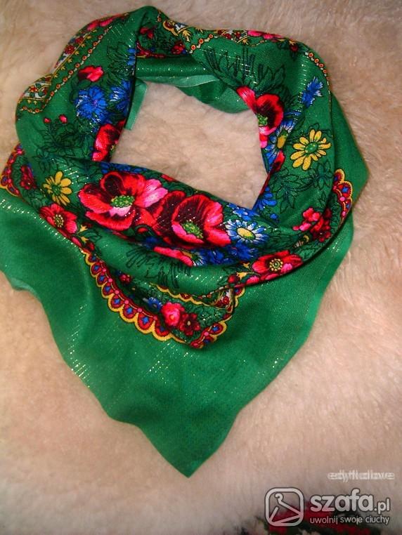 Chusty i apaszki Sliczna zielona apaszka