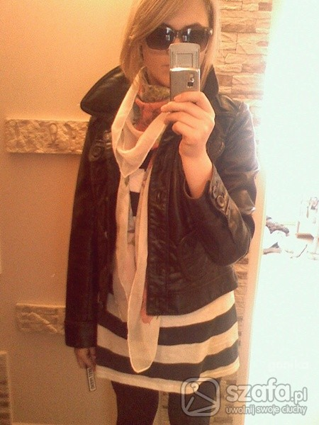 Mój styl pasiak z chustą