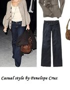 Casual style by Penelope Cruz