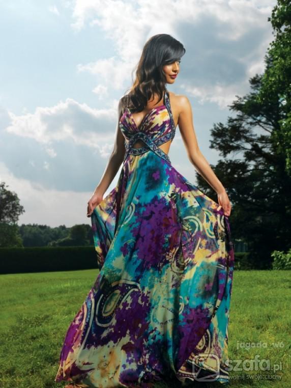 Na specjalne okazje Zachwycająca Suknia Kwiatowa FLORAL