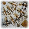 Apaszka kremowa z jedwabiu HERMES