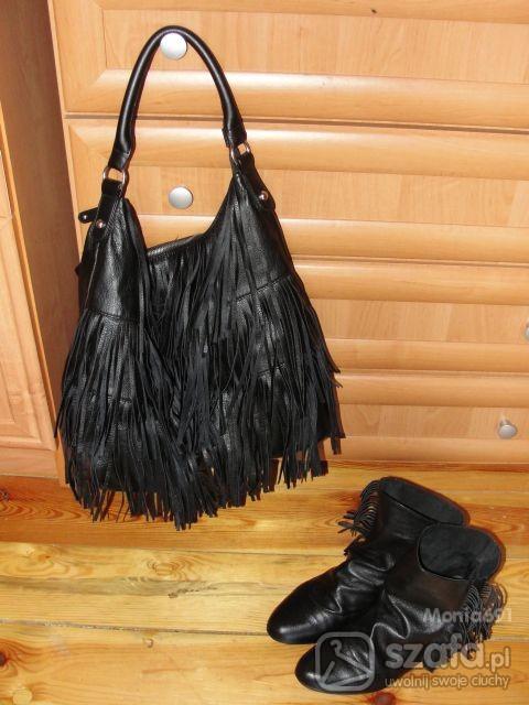 Mój styl Frędzle saszki ZARA i torba HM