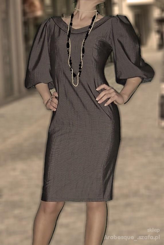elegancka sukienka bufki 40 L