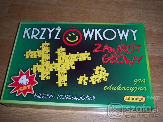 Zabawki Krzyżówkowy zawrót głowy gra edukacyjna