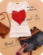 t shirt heihb japan style z dużym sercem...