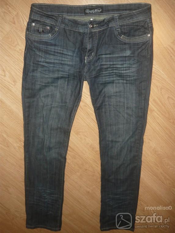 Spodnie RURKI JEANSOWE r44