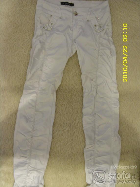 Spodnie Białe rurki
