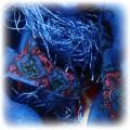 kobaltowa chusta nowa