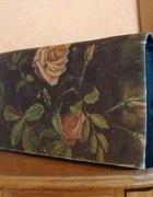 Torebka kopertowa różana vintage